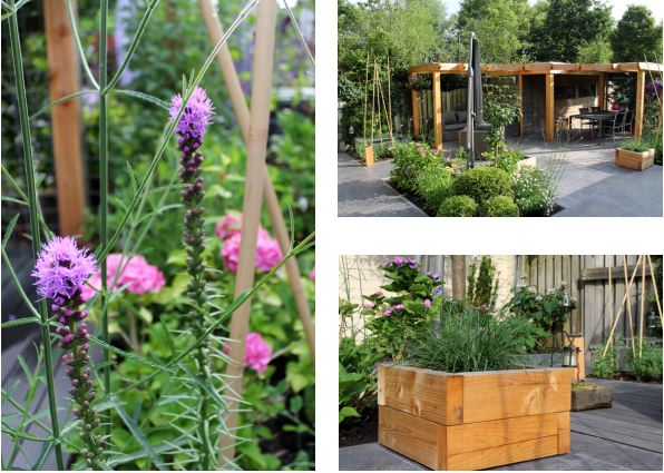 Collage Tuin met overkapping